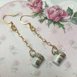 NEW! China Mug Earrings
